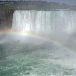 rainbow at Niagra Falls, public domain inage